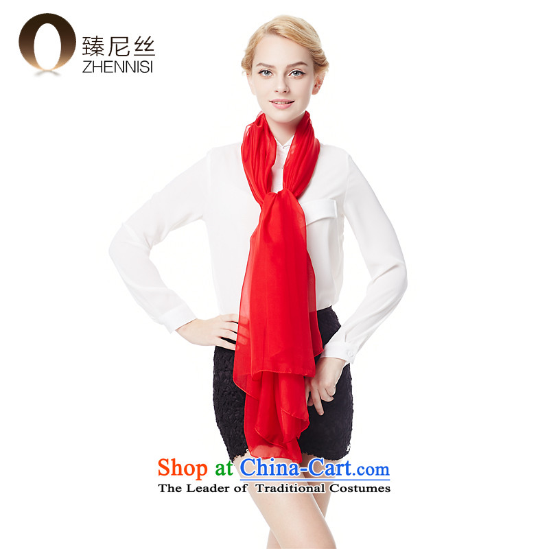 The next level of the population of silk scarves, Solid Color chiffon scarf high autumn and winter sauna silk scarves sunscreen air-conditioning shawl W050-6 gift box