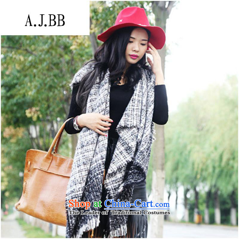 The Secretary for Health related shops * 2015 of the forklift truck cloak shawl scarf Ms.4313autumn and winter oversized cashmere JZ386## Gray