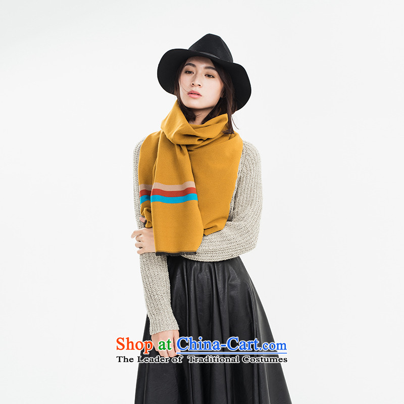Population by 2015 new brushes Addis Ababa autumn and winter scarf Ms. wild fancy scarf two extra long, thick, with a gift box yellow