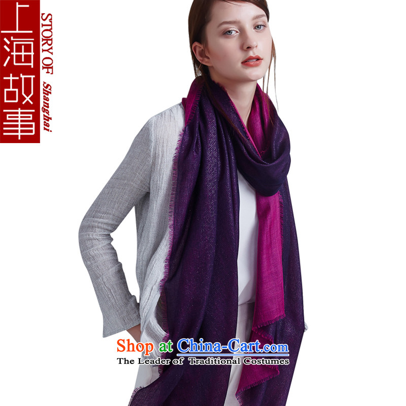 Shanghai Story pashmina female winter pure color a shawl new double gold and the red