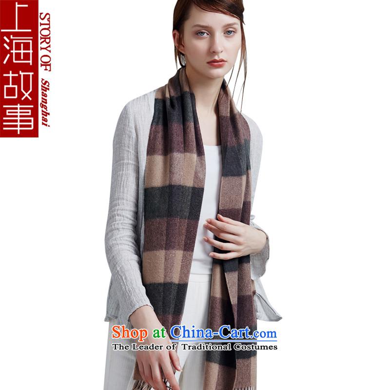 Shanghai Story pashmina shawl a winter female couple of England scarf grid8#