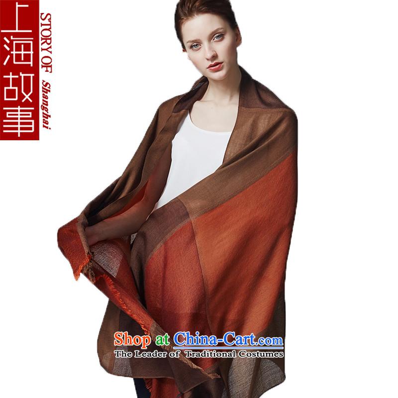 Shanghai Story pashmina female couple winter England grid a shawl cashmere, Orange