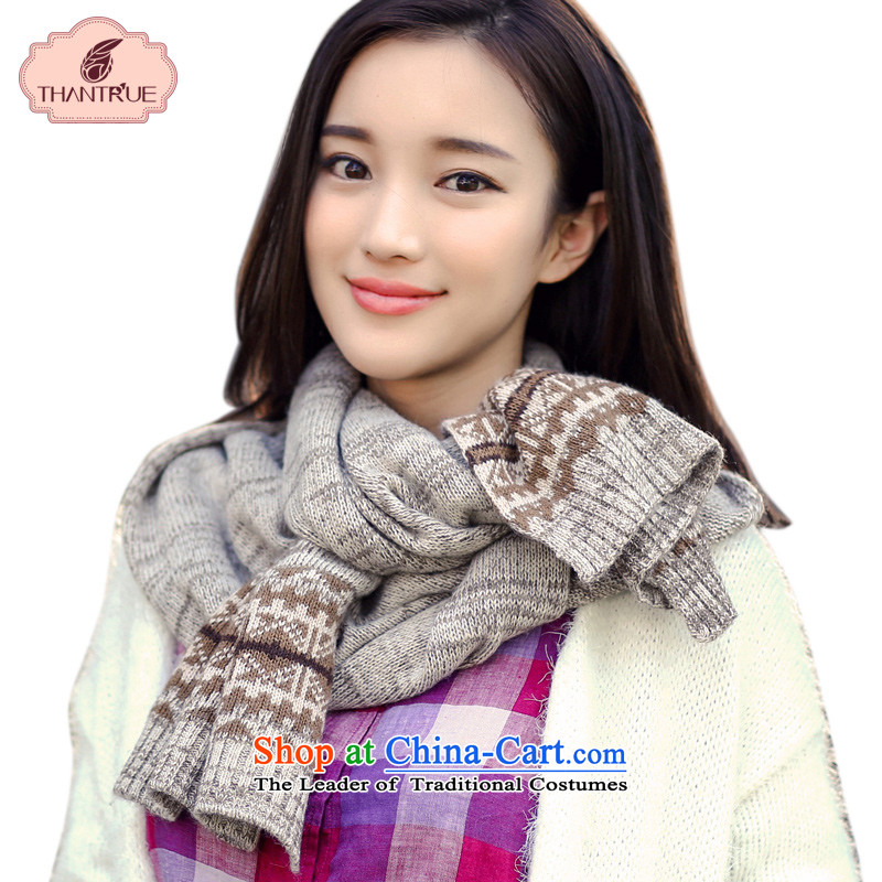Enjoy a Korean version of true thantrue Knitting scarves couples fall and winter knitting a skull Ms. warm W163 folder spend m