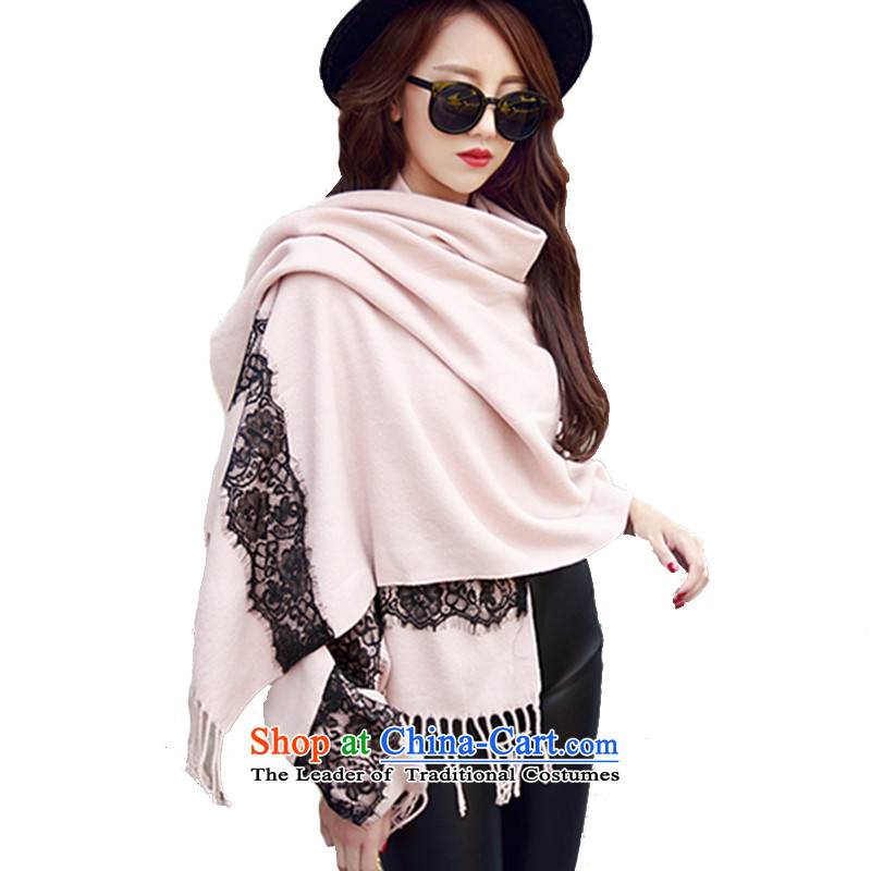 Korean Cardigan cloak scarf female winter coats lace shawl thick with leather toner200_73 two