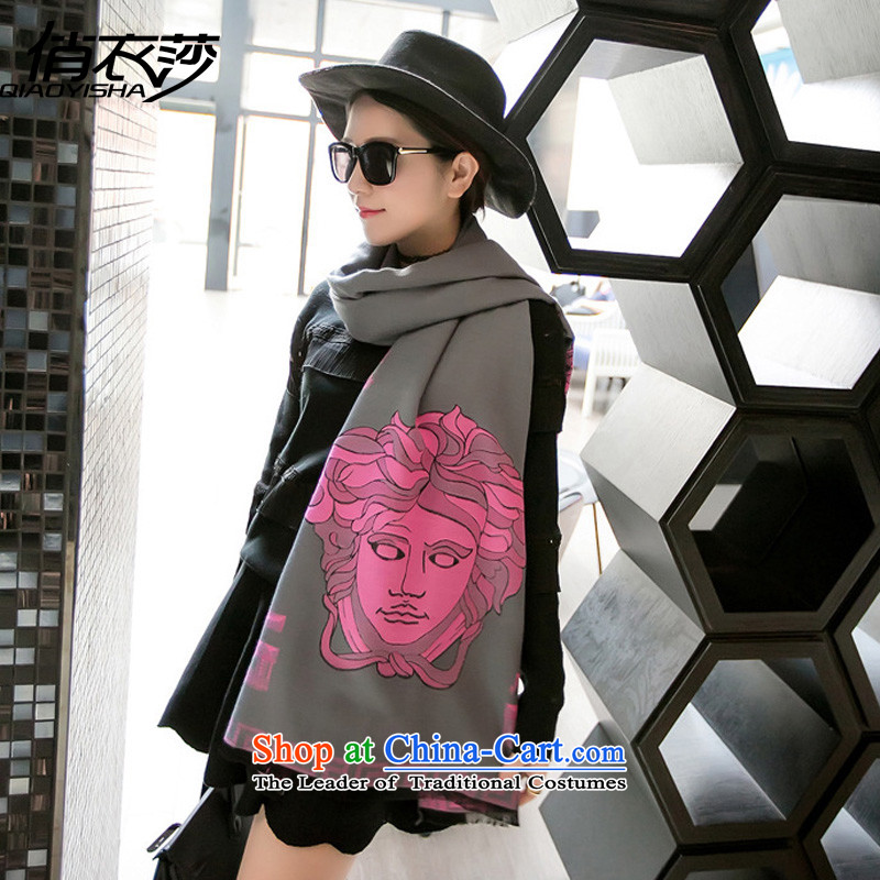 For autumn and winter clothing Windsor new Korean style cartoon characters scarf stylish emulation /pashmina shawl QA15734313Gray Pink