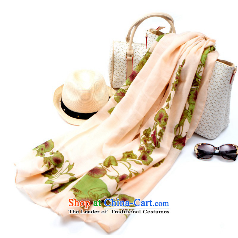 The聽2015 autumn and winter Tarja Halonen customers new convolvulus flower stamp shawl scarves with two summer sun yi beach towel silk scarf female rice flour