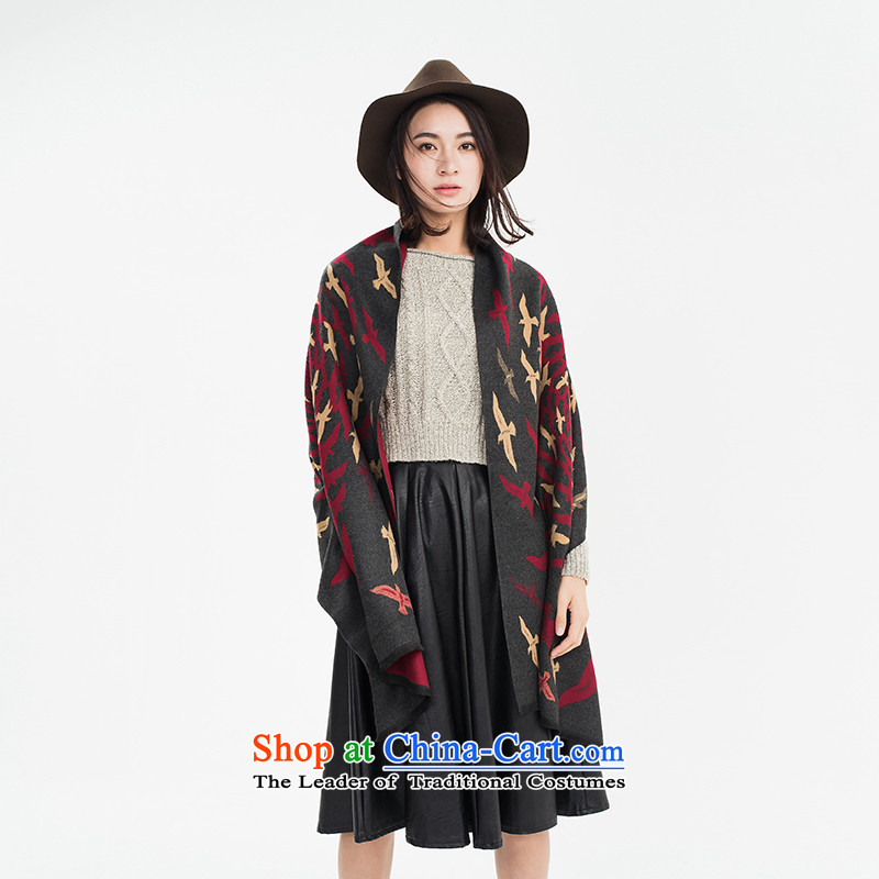 Population by 2015 new brushes Addis Ababa autumn and winter scarf Ms. wild fancy scarf two extra long, thick, with a gift box deep red