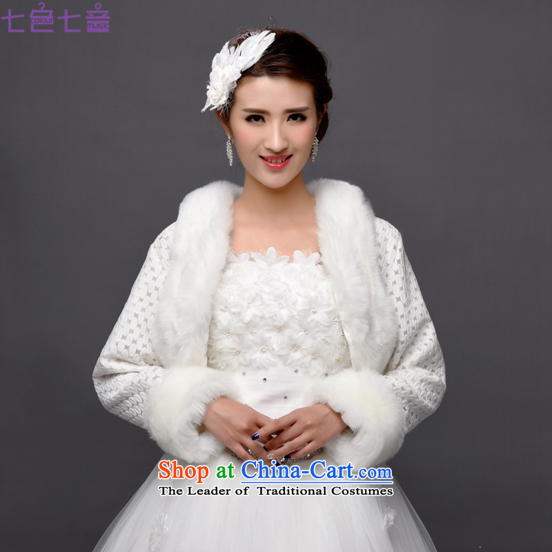 7 7 color tone2015 autumn and winter new bride gross shawl wedding dresses shawl bridesmaid shawl Wild Hair shawlPJ1505White