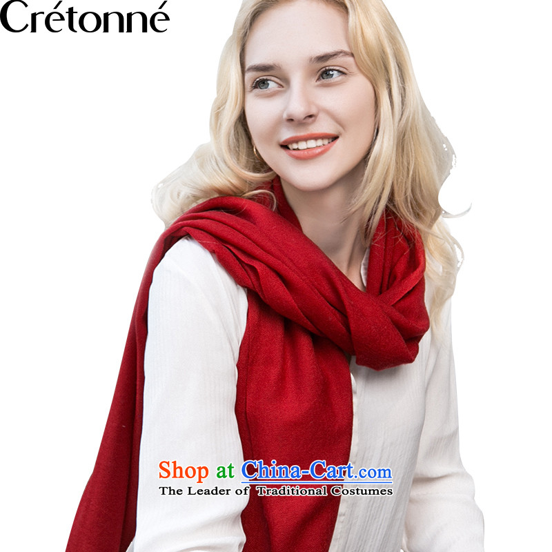Wooler scarf pro-skin care CRETONNE natural shawl, Solid Color scarf long a A RED