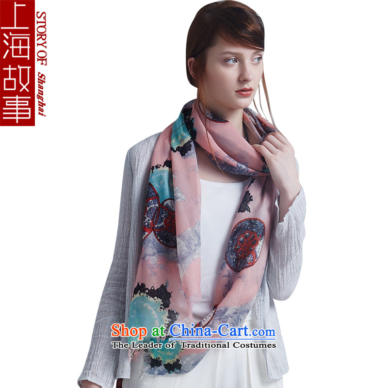 Shanghai Story Ms. wooler scarf of autumn and winter shawl a new Korean star through pink