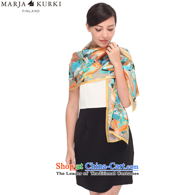 Marja KURKI Mary Kay KU Chun long sauna silk scarves Floral Kingdom of Dreams Western Wind 1X450863 green
