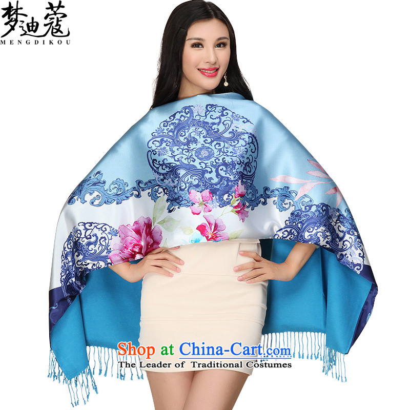 Khao Lak Deere thickened dream silk scarves satin double herbs extract Scarf2#