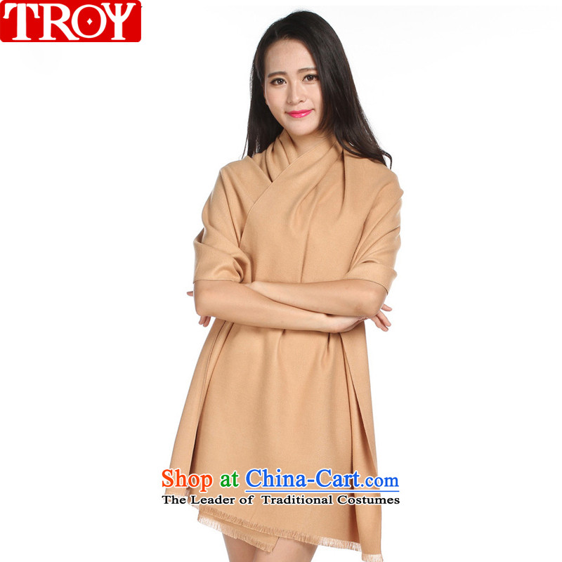 Troy autumn and winter, solid color two-sided brushed warm Fancy Scarf two colors to use a 13-808
