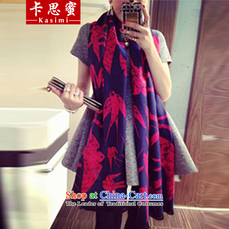 Karth honey 2015 autumn and winter new swallow long emulation pashmina shawl female wild air-conditioning sunscreen silk scarf two red wine 90cm wide x195cm long