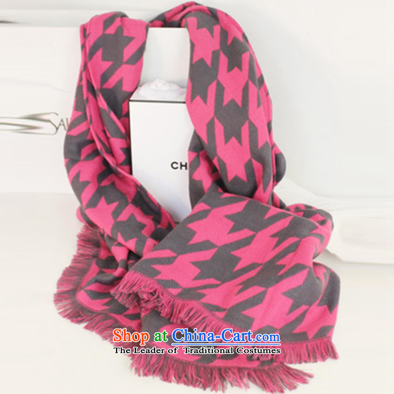 The United States and the new version 2015 Carne stylish Western cashmere edging chidori, scarves and large shawl a female in the toner chidori Grid
