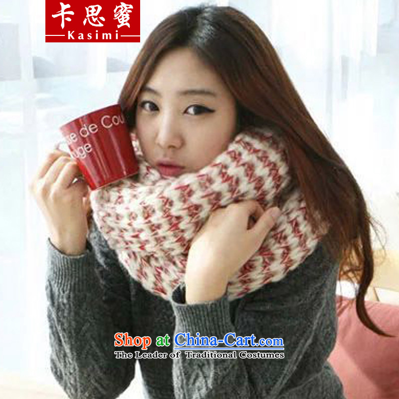 Karth honey 2015 autumn and winter new Korean women's stylish thick couples a knitting, knitting shawl long emulation mohair scarf Red 38cm wide x200cm female long
