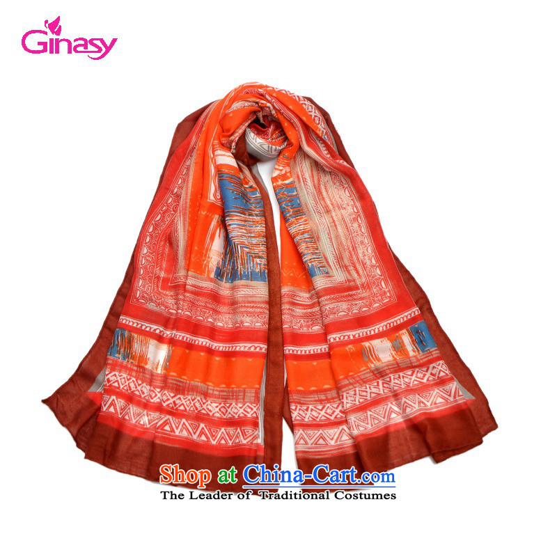 2015 Autumn and Winter, ginasy geometry scarf silk scarf wild, temperament-conditioning shawl seaside resort of the scarf by red two
