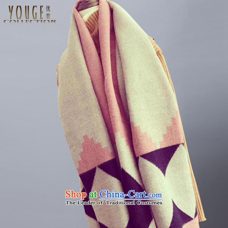 2015 WINTER new emulation pashmina thick diamond tartan large shawl scarf warm couples scarf Pink