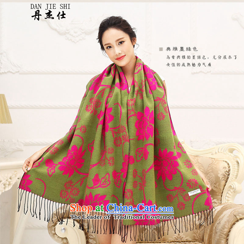 Dan Jie Shi聽2015 autumn and winter Ms. new stamp flow of ethnic scarves su soft warm-Tai Wai Shing air-conditioning with two shawls Lotus Emerald