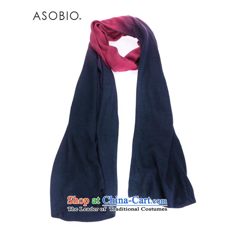 聽The Korean version of the stylish look ASOBIO gradient warm scarf 4432853005 coral _404 coral red _404