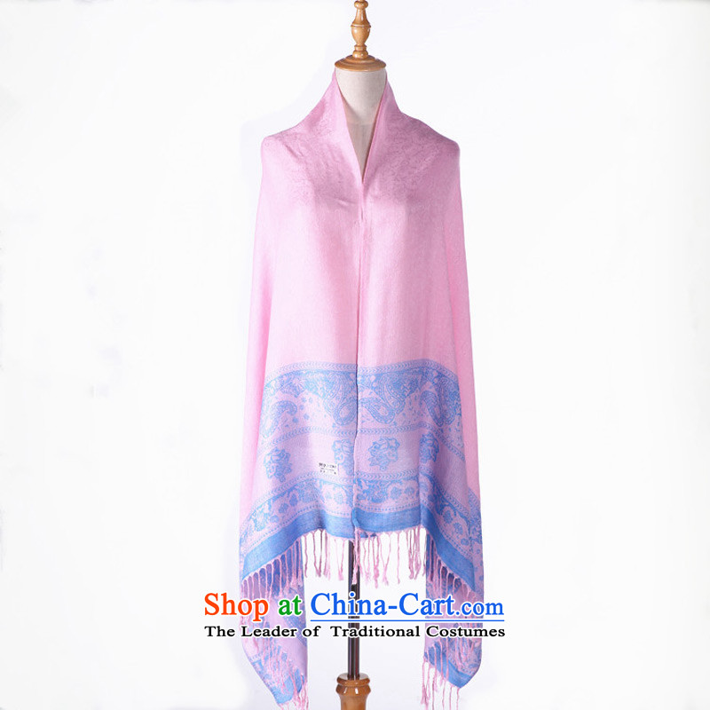Taoyee 2015 autumn and winter pure color female shawl warm long Korean intensify the chador silk scarf light pink