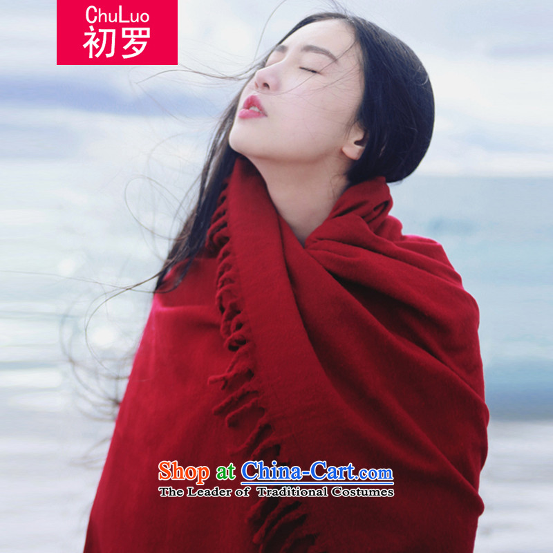 At the beginning of 2015 the new tourist photo mandatory Zhang Xin Yuan of the same ethnic retro china red pashmina shawl emulation large red