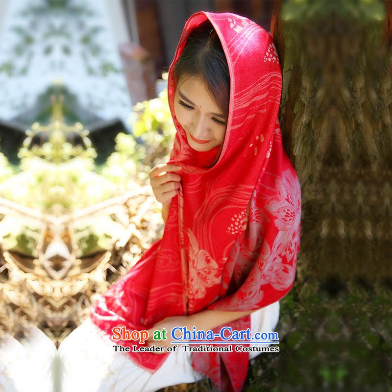 Stylish warm shawl TAOYEE scarf 2015 new autumn and winter ethnic jacquard warm warm red Fancy Scarf