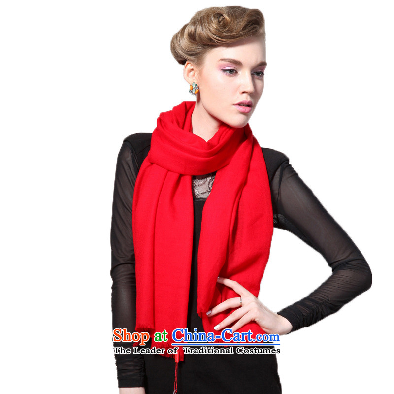 Hang Yuen Cheung-Worsted Australia wool pure dispersion sui long Fancy Scarf dual-use air conditioning shawl thin shawl spring and autumn (Boxset) wool cashmere texture a red