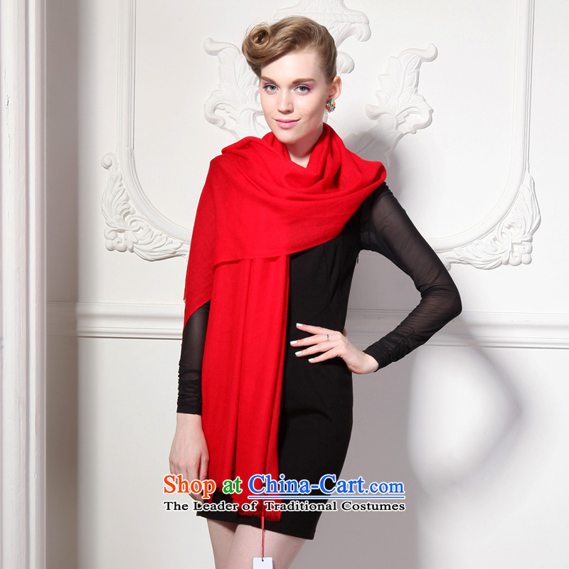 Hang Yuen Cheung-Worsted Australia wool pure dispersion sui long Fancy Scarf dual-use air conditioning shawl thin shawl spring and autumn (Boxset) wool cashmere texture a red source, Hang Cheung shopping on the Internet has been pressed.