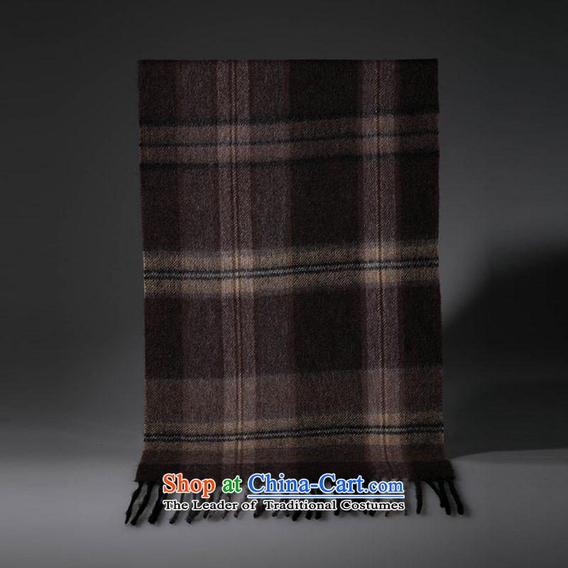 The wool-wook-blended water marks the end of the scarf Sleek and versatile, coffee and
