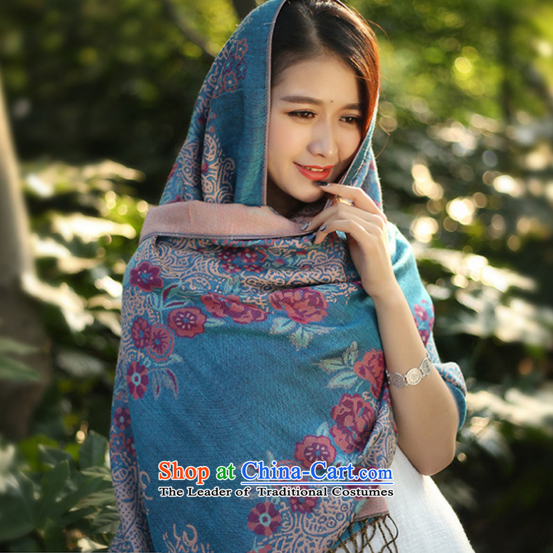 Stylish new scarves TAOYEE winter oversized shawl female arts warm Fancy Scarf lake with two blue