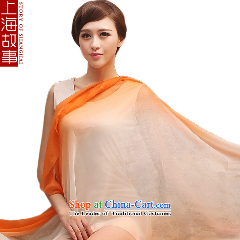 Shanghai Story Ms. silk scarf 300 Pure Cashmere scarf support gradient, Cashmere wool Autumn and Winter Magic gradient orange gradient