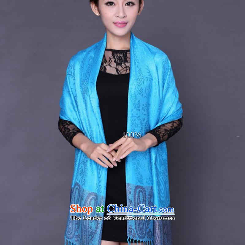 2015 new bride TAOYEE shawl oversized thick warm winter Ms. Jacquard Scarf shawl4313marine blue