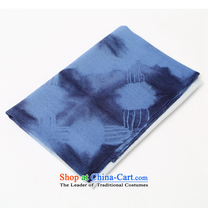 The elections in 2015, as soon as possible new international fine woven pure wool autumn warm winter scarf is stylish blue scarf Ms. Gradient