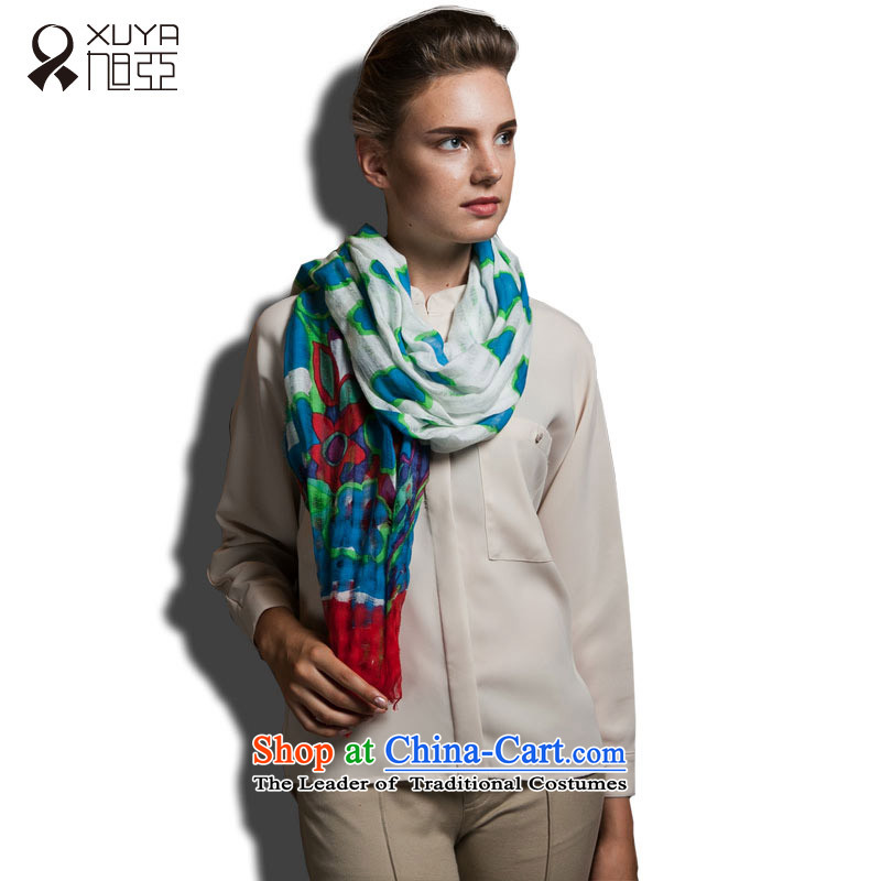 Ya pure cotton worsted stamp scarves, red and green female stamp