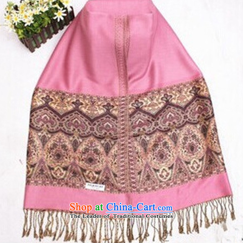 In the fourth quarter of 2015 TAOYEE ethnic stamp scarf oversized warm shawl, scarves The Pink