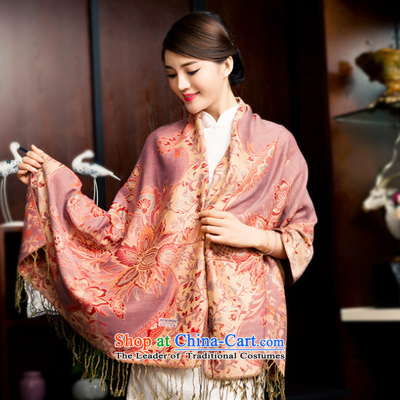 The new 2015 TAOYEE tourism shawl silk scarf of autumn and winter thick Ms. wild fancy scarf two with pink