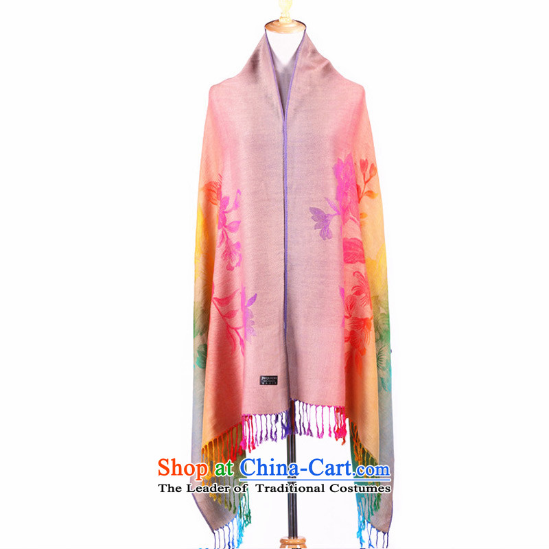 Female winter ethnic TAOYEE cotton linen, Korean long shawl temperament Bohemia during the spring and autumn of the chador Pink