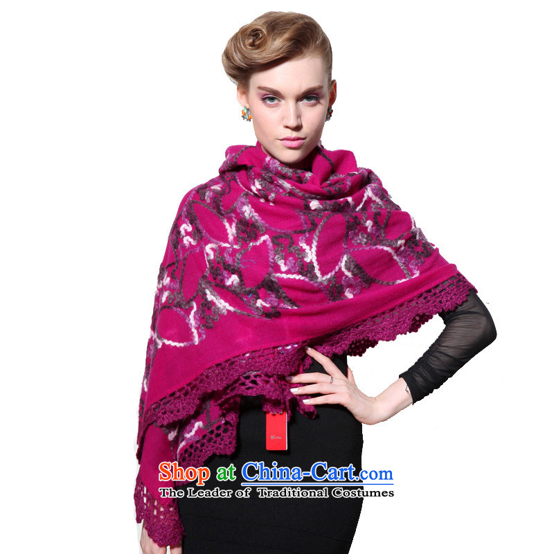 Hang Cheung wool disc source Ms. shawl embroidered air-conditioning shawl (Boxset) (the red lace