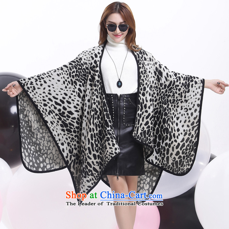 Flower world leopard large shawl scarf two fake cashmere shawls autumn of the forklift truck, warm winter Sleek and Versatile Black and White Leopard