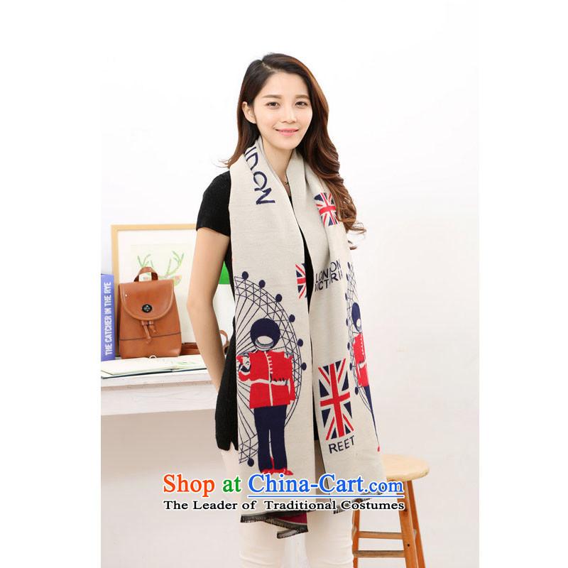 Wooler scarf girl a fancy scarf duplex pashmina shawl White + wine red