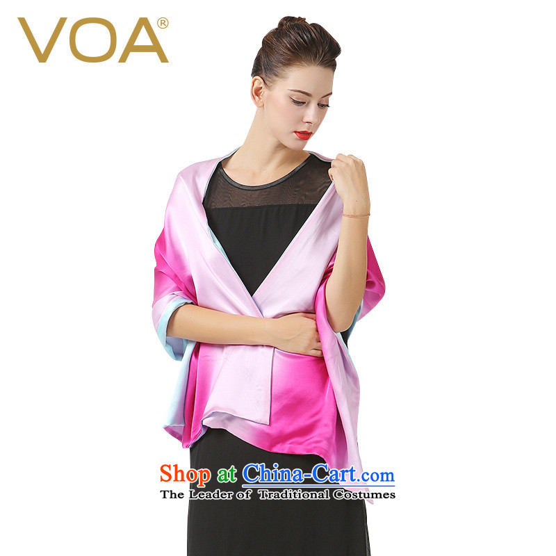 The VOA identifies the new gradient silk scarfs double sauna silk shawls autumn and winter high-end gift, silk scarf red _03_