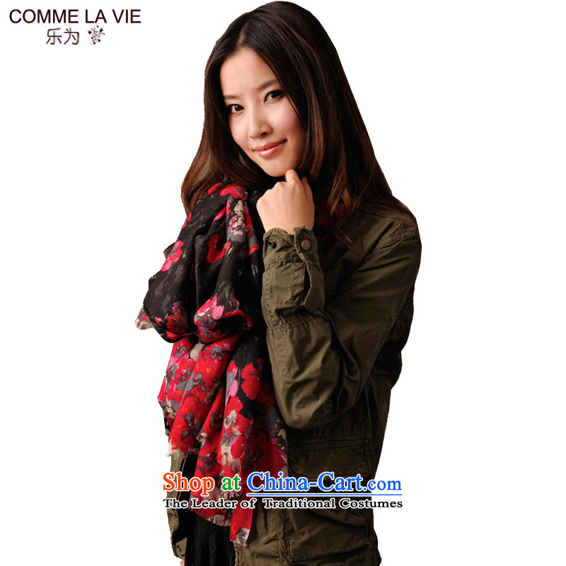 For Fancy Scarf of autumn and winter female wool shawl L11FC153 Air conditioning are Code Red
