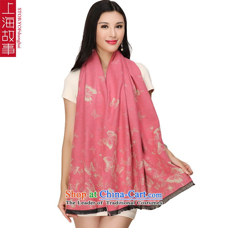 Shanghai Story thick scarf female brushed warm stamp Scarf3#