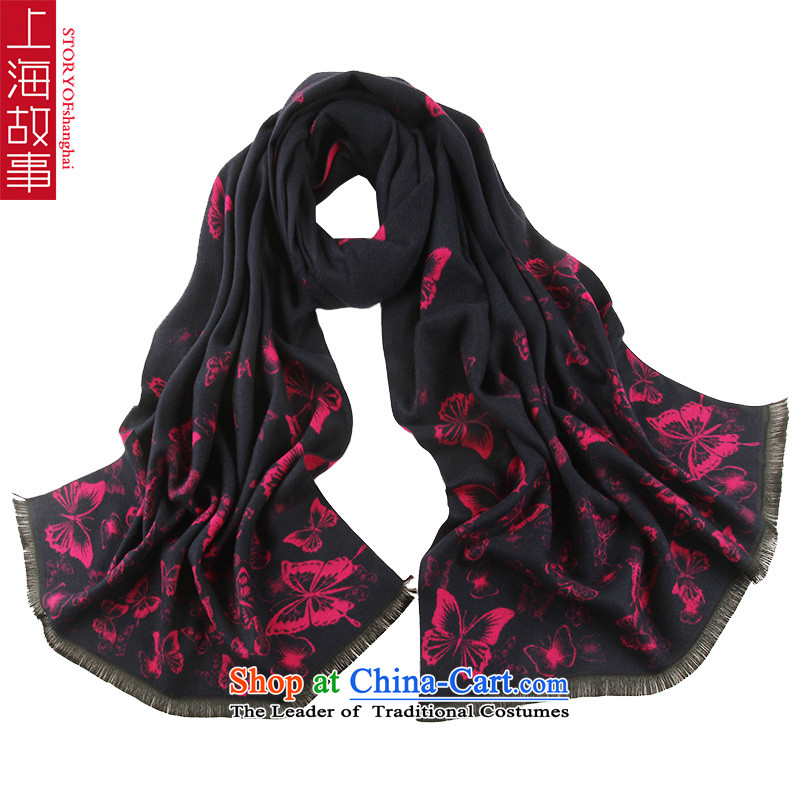 Shanghai Story thick scarf female brushed warm stamp Scarf6#