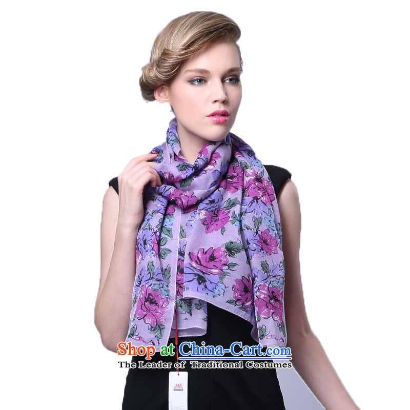 Hang Yuen Cheung-wool Ms. herbs extract scarf sunscreen silk scarf (Boxset) on purple