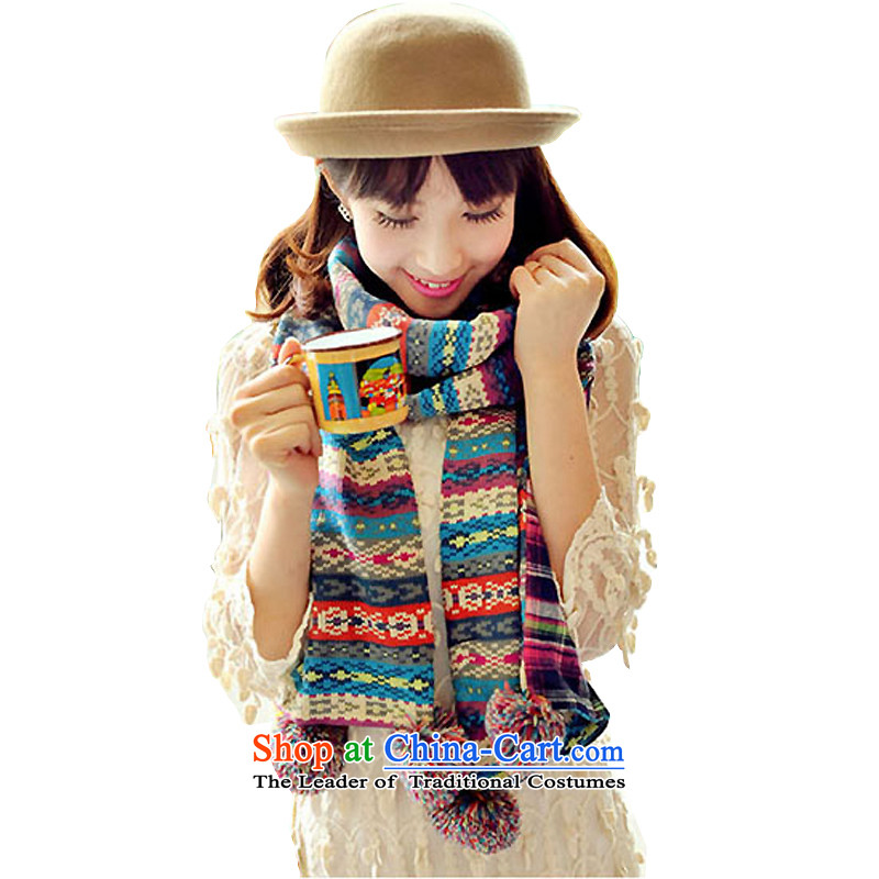 Gift Box Knitting scarves female students Korean winter thick Knitting scarves shawl ball two red