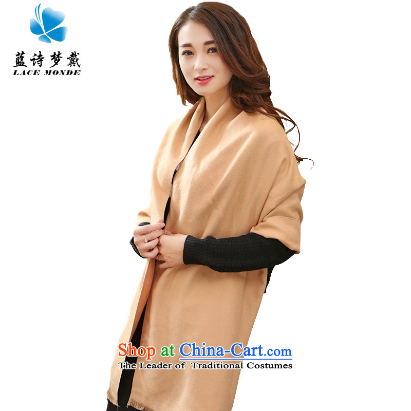 It takes two scarves Ms. Wong Lai-gon stars baby with autumn and winter pure color wild air-conditioning thick cashmere shawls and stylish scarves emulation women and two color and use