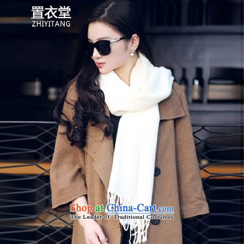 Built-YI TONG unisex solid color scarves couples, Fancy Scarf two spring and autumn in winter the new a wild solid white students are codes of the scarf