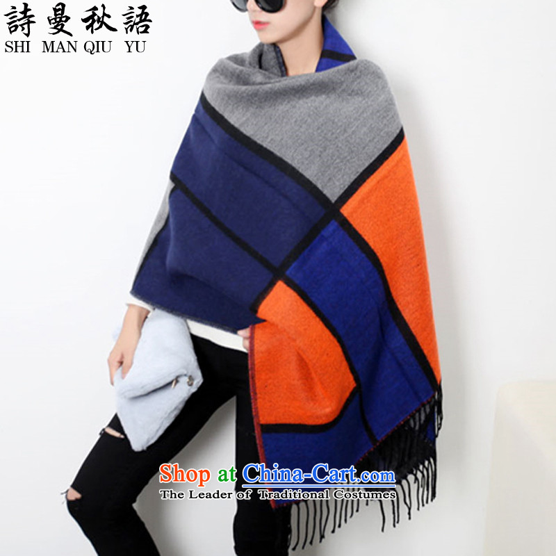 The fall in Sze scarf female autumn and winter 2015 new Korean wild shawl female autumn and winter stylish Cashmere scarf emulation warm orange female in code